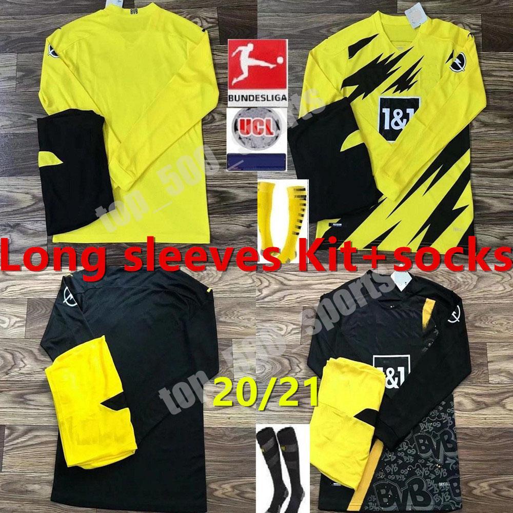2020 Borussia 2020 2021 Long Sleeves Men Kit Dortmund Haaland Soccer Jerseys 20 21 Hazard Gotze Reus Witsel Paco Alcacer Third Set Football Shirt From Top 500 Sports 13 48 Dhgate Com