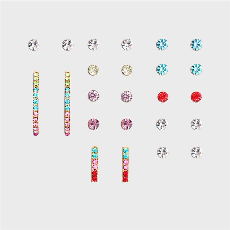 Новый цвет циркона Earmuffs костюм охватываемые 12 шт творческих заразились C серьги типа восстанавливая древние пути