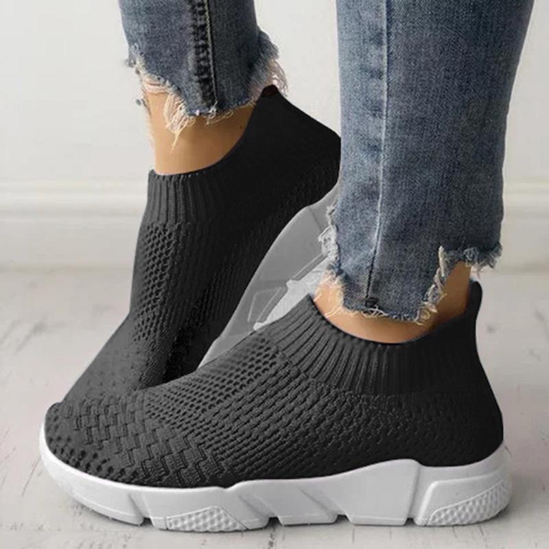 Flat Shoes Women Knitting Slip On