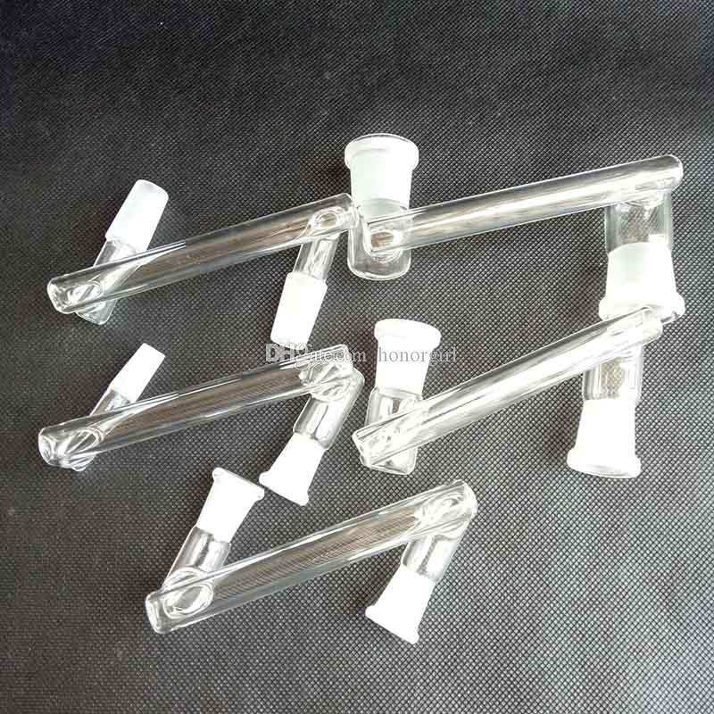 Vetro Dropdown Reclaim Catcher Adapter Accessori per utensili da fumo 10mm 14mm 18mm per recupero dell'olio Rigs Narghilè Bongs Converter 8 Stili
