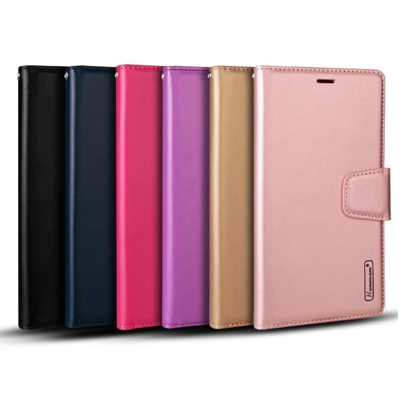 럭셔리 Hanman 밀 지갑 PU 플립 가죽 케이스 커버 iphone12 11pro xs max xr samsung s10 s10plus huawei p20 p30 소매 상자