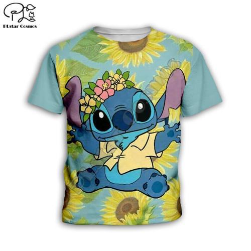 Conjuntos crianças Verão Terno Girassol ponto Anime Criança 3D tshirt Casual Shorts Crianças Tops Curto Tees dos desenhos animados t-shirts menina do menino