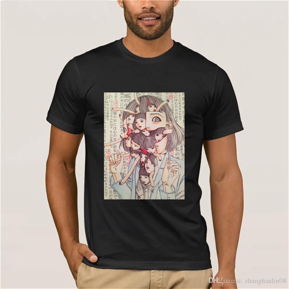 Man Manga Junji Ito T Shirts Shintaro Kago Girl Tees 3D Print Tee shirt Top design Short-sleeved