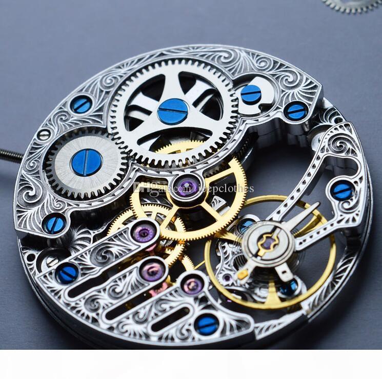 ESQUELETO HOLLOW CINZELA ART ST3620 ST3600K GAIVOTA MÃO WIND MECÂNICA Movimento do relógio para HOMENS DE PULSO REPARAÇÃO FIX relógio acessório ETA 6498
