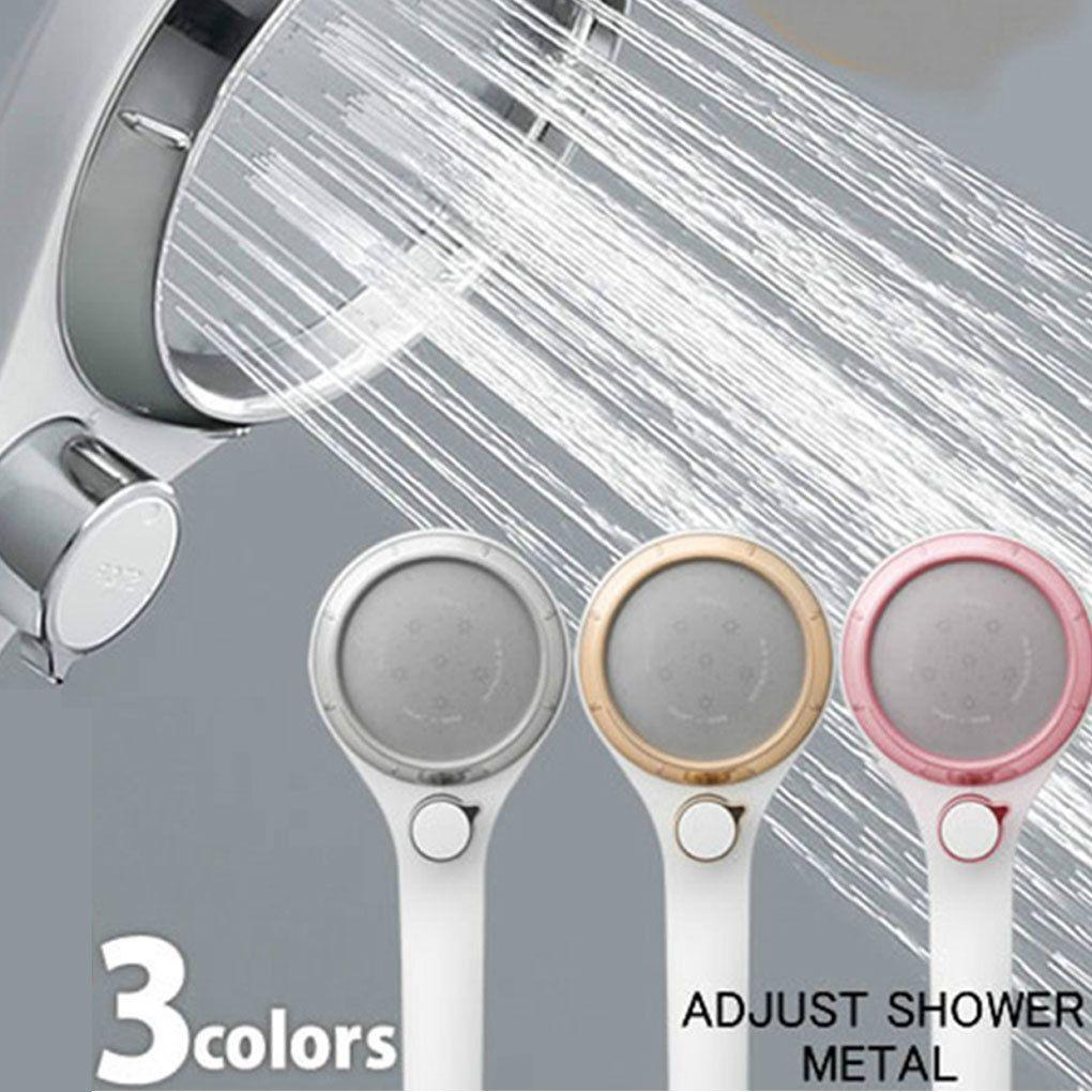 Yüksek Basınçlı El kompresörlü Duş Başlığı Kemeri Anahtarı Tek düğmeli Su Durdurma Püskürtme Banyo Memesi Su tasarrufu
