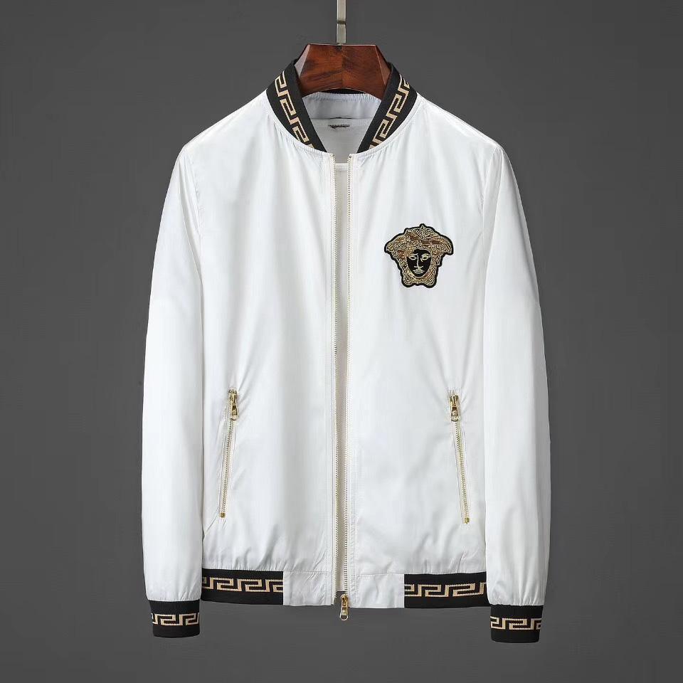 뜨거운 판매 새로운 하이 스트리트 남성 의류 의류 블랙 화이트 남성 재킷 놓은 메두사 패션 남성 방수 남성의 억만 장자 자켓