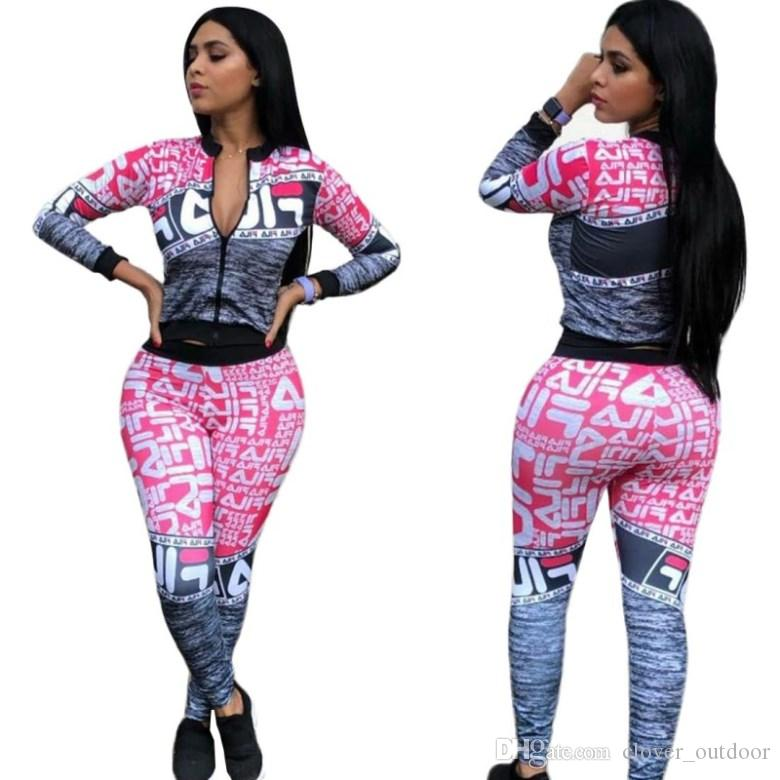 womens hoodie legging 2 piece set outfits long sleeve tracksuit jacket pants sportswear panelled outerwear tights sports set very hot 2798