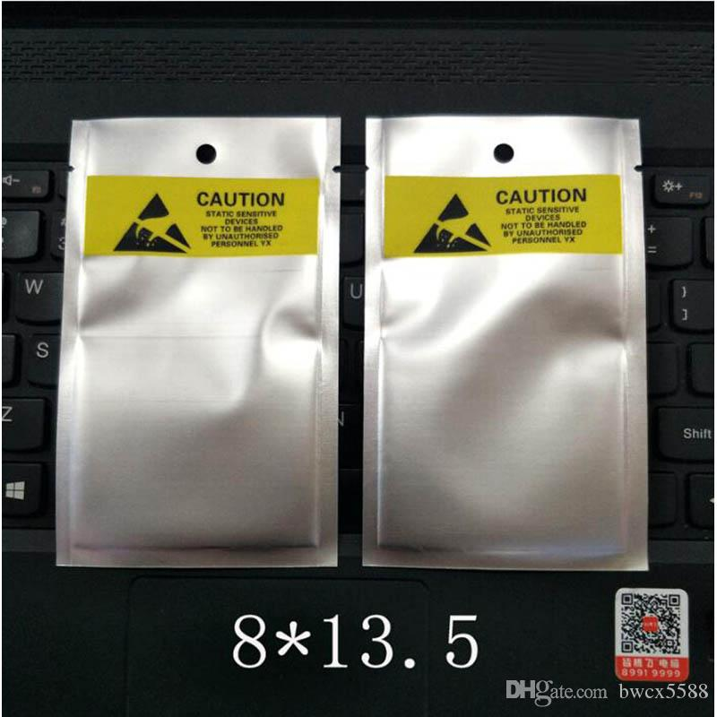 1000pcs 8 * 13.5cm / 10x15cm 정전기 방지 포장 가방 정전기 방지 ESD 가방 휴대폰 배터리 usb 케이블에 대 한 상위 무료 빠른 배송