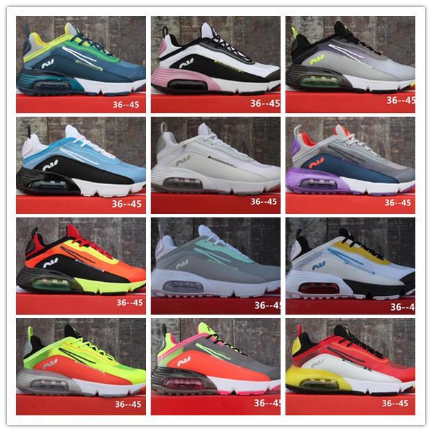 2020 chegam novas Moda 2090 malha de superfície Preto Amarelo Branco Azul Multicolour homens claros Peso executando clássicos sapatos Sneakers Desporto