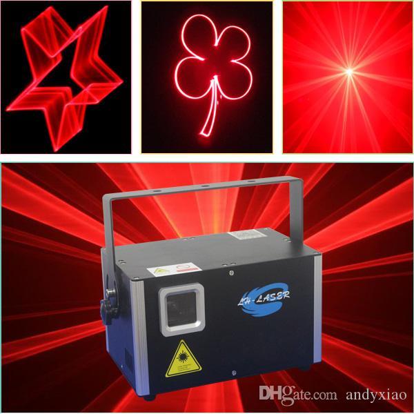 Freie Verschiffen 2W sondern rote Farbe-Sd-Karte Laser-Stadiums-Disco-Partei-Stadiumslichter mit ILDA-Schnittstelle aus