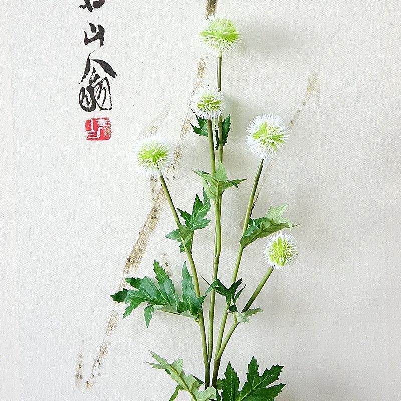 5 cabezas rama de diente de león bola de flores artificiales DIY decoración de fiesta de boda pompón de plástico flores plantas falsas guirnalda de flores