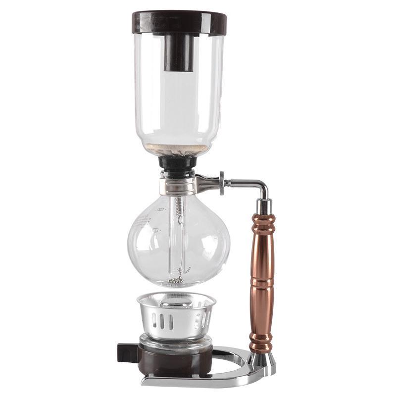 Hand Siphon machine à café pot en verre résistant à la chaleur machine à café Filtre Set Kit