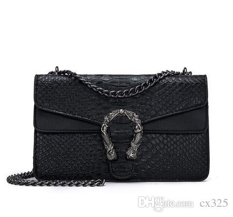 Snake Fashion Brand Women Bag Alligator PU Leather Messenger Bag Designer Chain Hombro Crossbody Bag Women Bolso Bolso Mujer