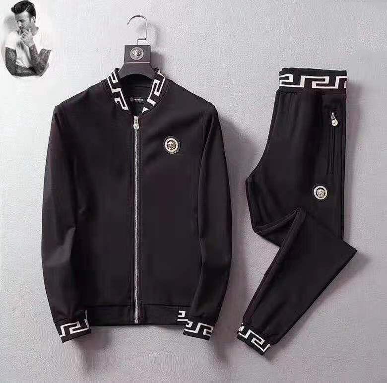 Homens Tracksuits Casual = 19SS Carta 3G Imprimir Suits sweatsuits Hommes Jogger Fit Calças Pollover com capuz Hoodies longas Outfits