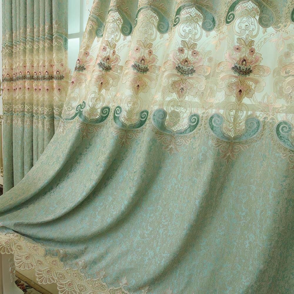 Modernes unbedeutender neuer Jacquard Vorhang fertiger individueller Vorhang Tuch Villa Wohnzimmer Vorhang Kunst