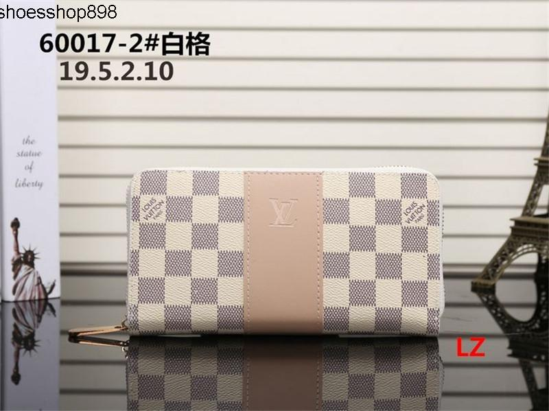 Q20I 2020 free shipping Wholesale lady long wallet multicolor designer coin purse Card holder women classic zipper pocke 20
