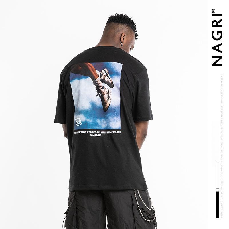 Palazzo mens vita magliette moda 2020 hip hop o-collo casuale Stampa Mezza Vintage Cotton vitalità giovanile