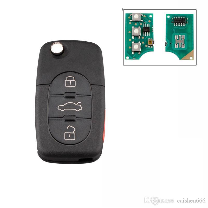 A4 S4 A6, A8 TT 1997-2005 Orjinal Uzaktan Kumanda Anahtar için 3 + 1Buttons İçin 4D0837231E 315Mhz uzaktan anahtar