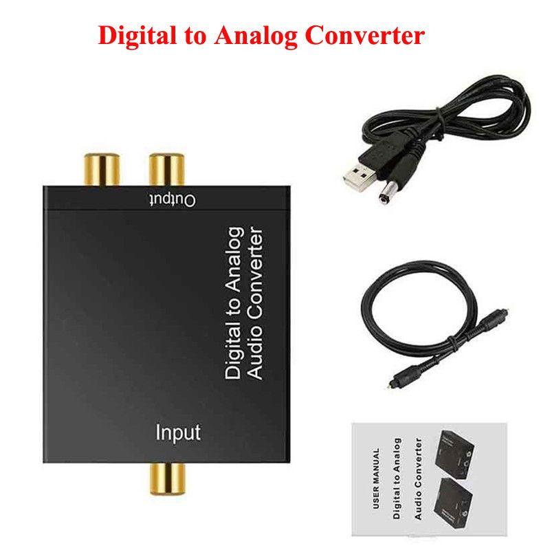 Digital an analoger Audio-Wandler 3,5-mm-Buchse 2 * RCA-Verstärker-Decoder-Decoder-Glasfaser-Koaxialsignal an analoge DAC-SPDIF-Stereo