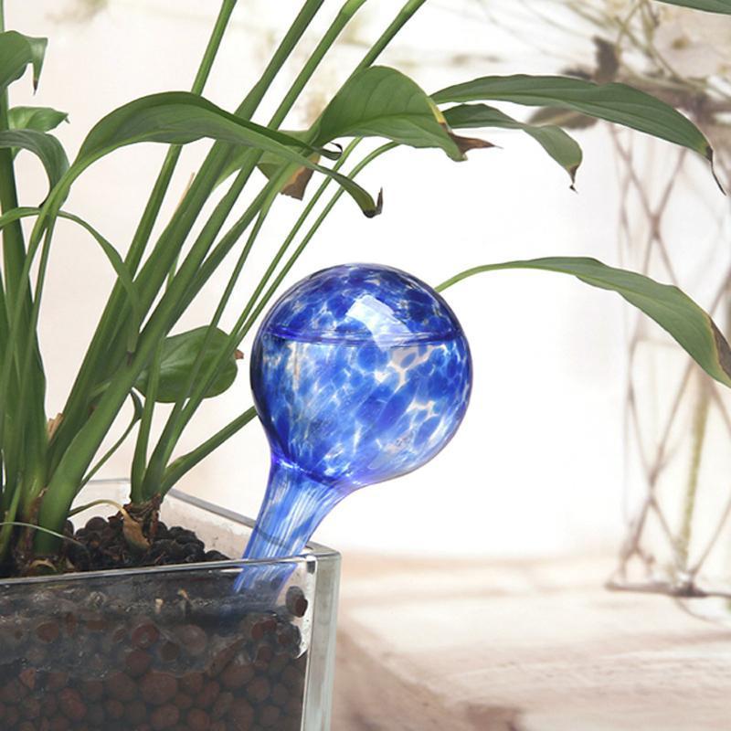 1 Pc Irrigação Bola Jardim Planta molhando Spheres Globos Outdoor pote de vidro colorido Garden Supplies aspersão Household