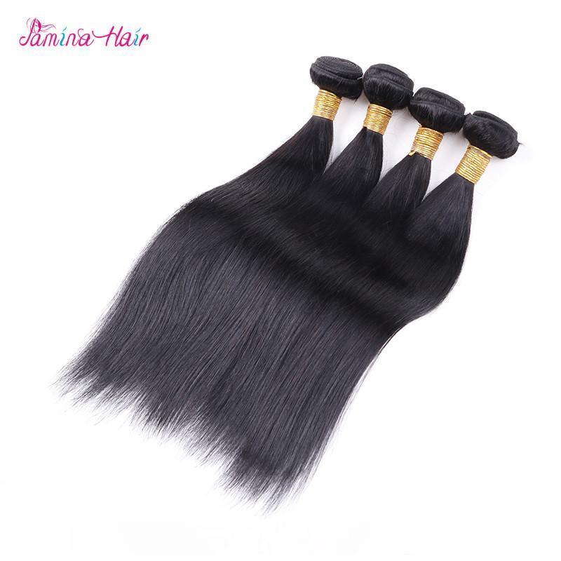 Brazilian Glattes Haar Weave Bundles 100% Echthaar Bundles 3 4 PCS-natürliche Farben 30.8 Zoll Jungfrau Remy Haar-Verlängerungen
