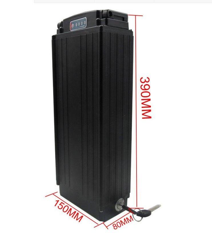 La batterie au lithium 48V de batterie arrière du support E de vélo du support 960Wh Li Ion emballe la batterie électrique 48V 20Ah de vélo avec la lumière menée