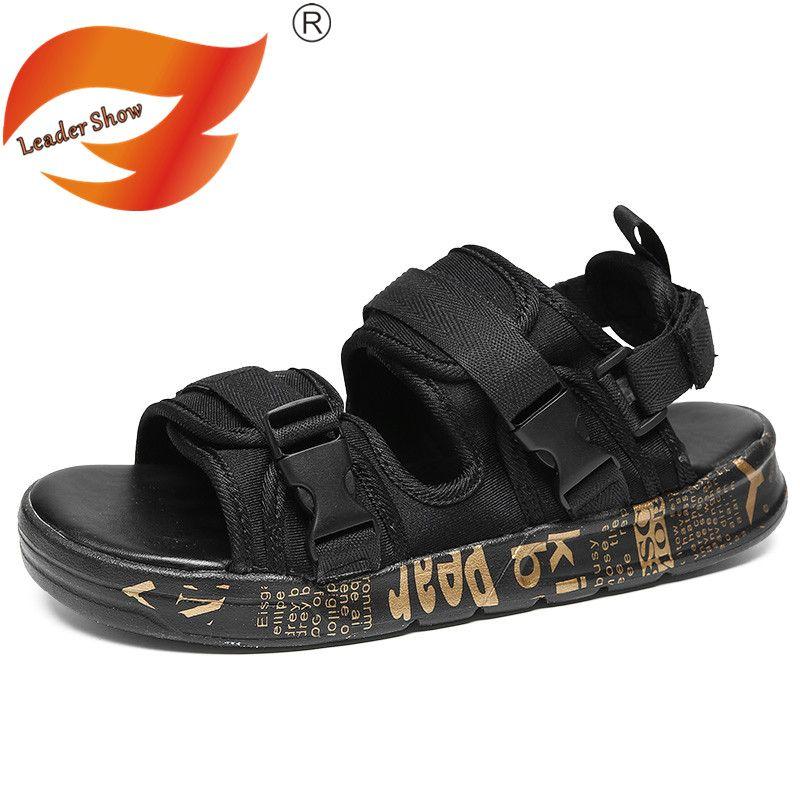 Leader Show Summer Fashion Men Sandals Outdoor Hot Sale Trend Man Beach Shoes High Quality Non-slip Adult Flats Sandals for Men