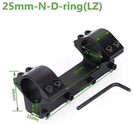 Alcance montaje ajustable de 1 pulgada / 30 mm de montaje del alcance Dual Anillos Fit 11mm / 20mm Dovetail