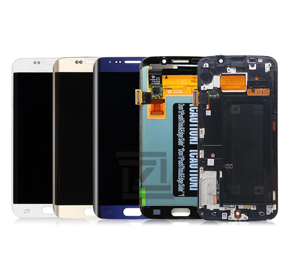 For Samsung Galaxy S6 Edge LCD G925 G925F SM-G925F Display Touch Screen Digitizer Assembly with frame For SAMSUNG S6 Edge LCD