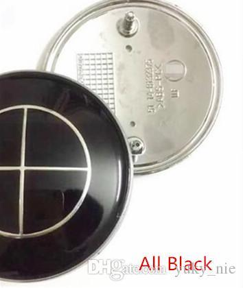 20pcs 82mm All black trunk hood emblem badge for BMW car decoration cars styling