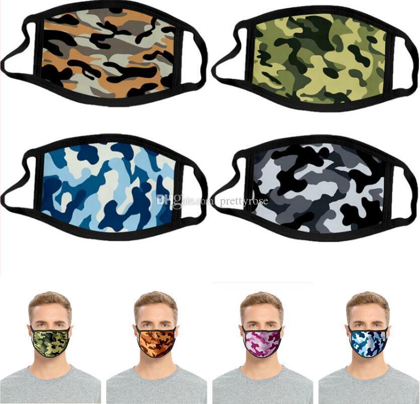 Masques de camouflage de la mode style antipoussière printemps et d'été masque respirant Lavable Sport Cyclisme visage Bouche Masque fête en plein air Masques