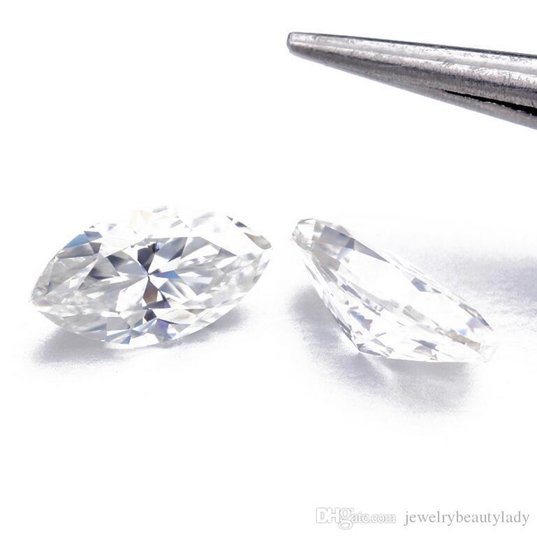 Toptan Marquise Brilliant Cut Moissanite Gevşek Taşlar VVS1 Mükemmel Kesim Sınıf Testi Pozitif Lab Diamond Yapmak için Yüzükler Takı