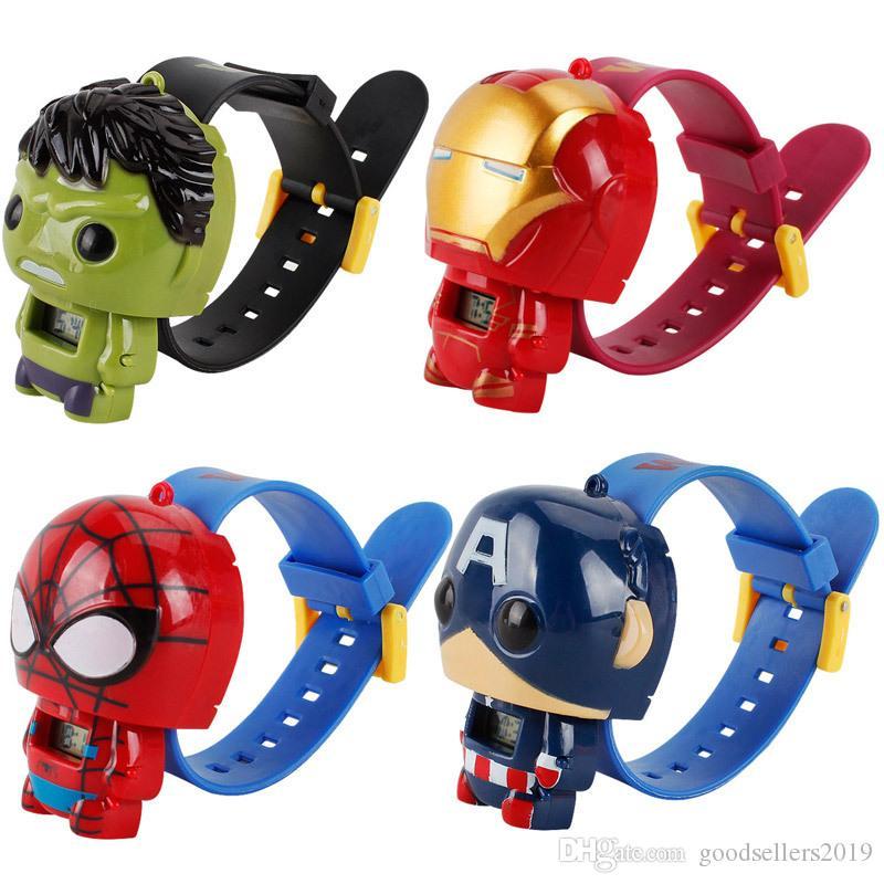 Brinquedos eletrônicos Assista Vingadores Homem De Ferro Verde Spiderman Gigante Capitão América boneca deformação brinquedo crianças brinquedos para crianças