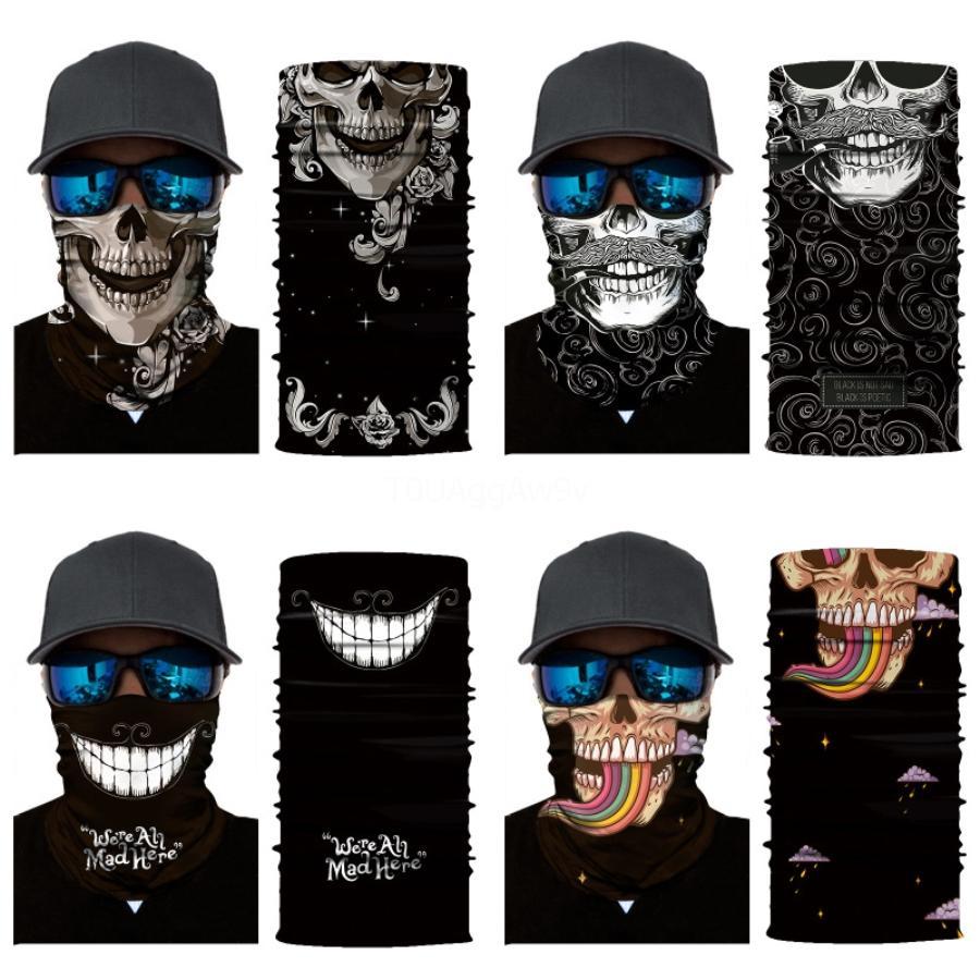 American Flag maschere magica Skull Scarf fascia capa esterna del collo maschera di protezione di pesca sportiva in bicicletta Escursionismo Caccia Bandana del tubo Skull Scarf # 837 # 284