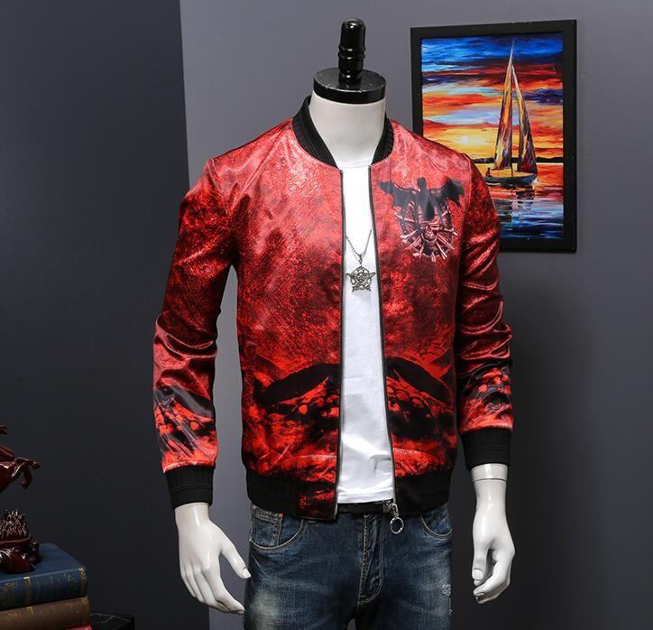 2019 nuevos hombres de moda chaqueta diseño personalizado D051