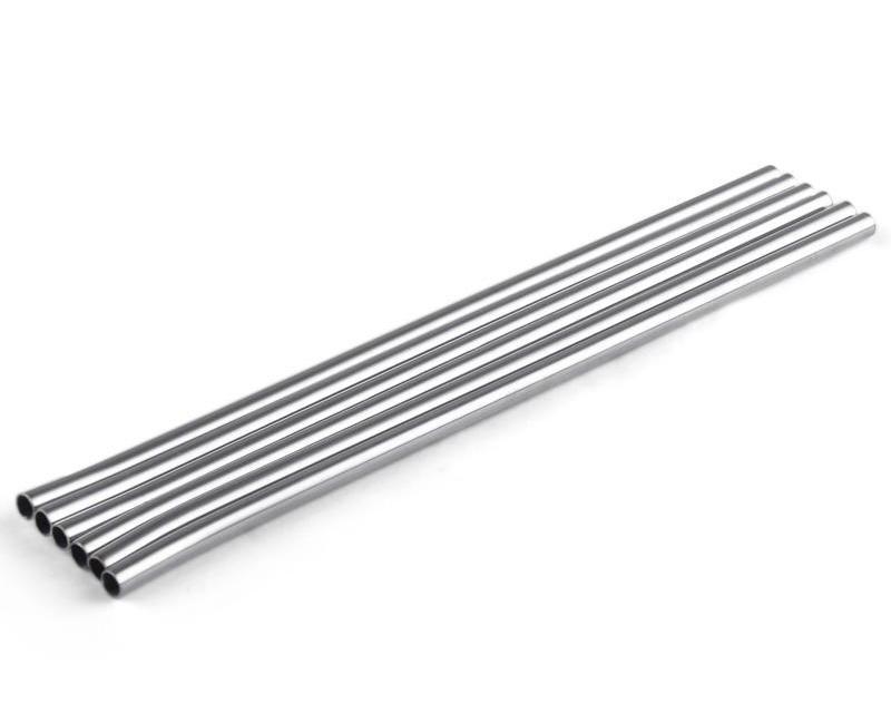 دائم الفولاذ المقاوم للصدأ مستقيم الشرب القش القش المعادن بار الأسرة مطبخ قطرها 6MM DHL FEDEX
