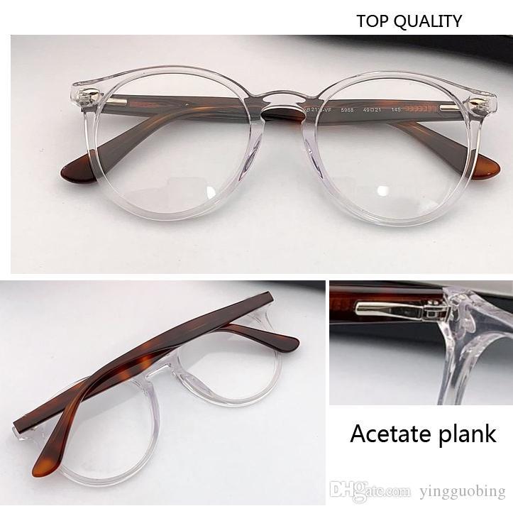 2020 مصمم العلامة التجارية إطار جولة بارد نظارات رجل إمرأة نظارات الجذوع خمر أنثى بصريات نظارات واضح عدسة الرجعية مشهد دائرة