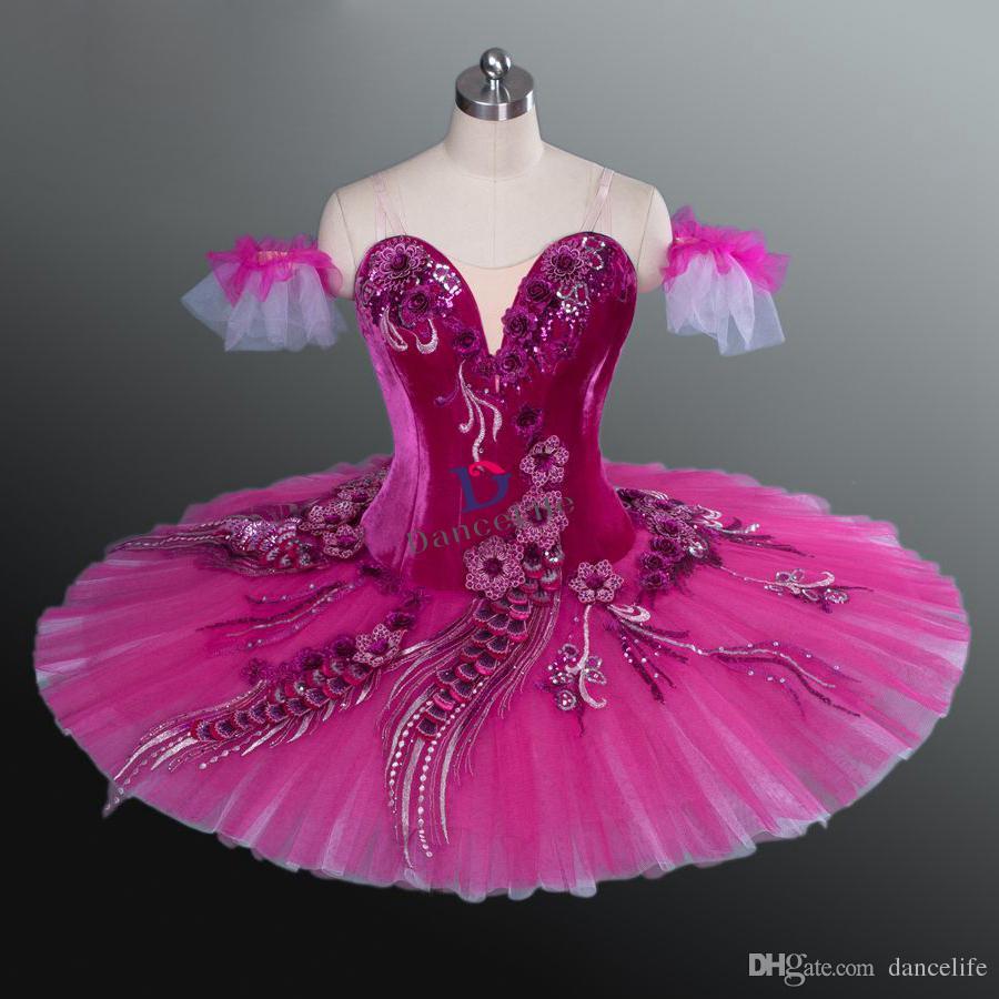 AP067 frete grátis Sugar Plum Fairy escuro Rosa Don Quixote Variação Profissional Ballet Tutu Vestido Paquita bailarina Mulheres