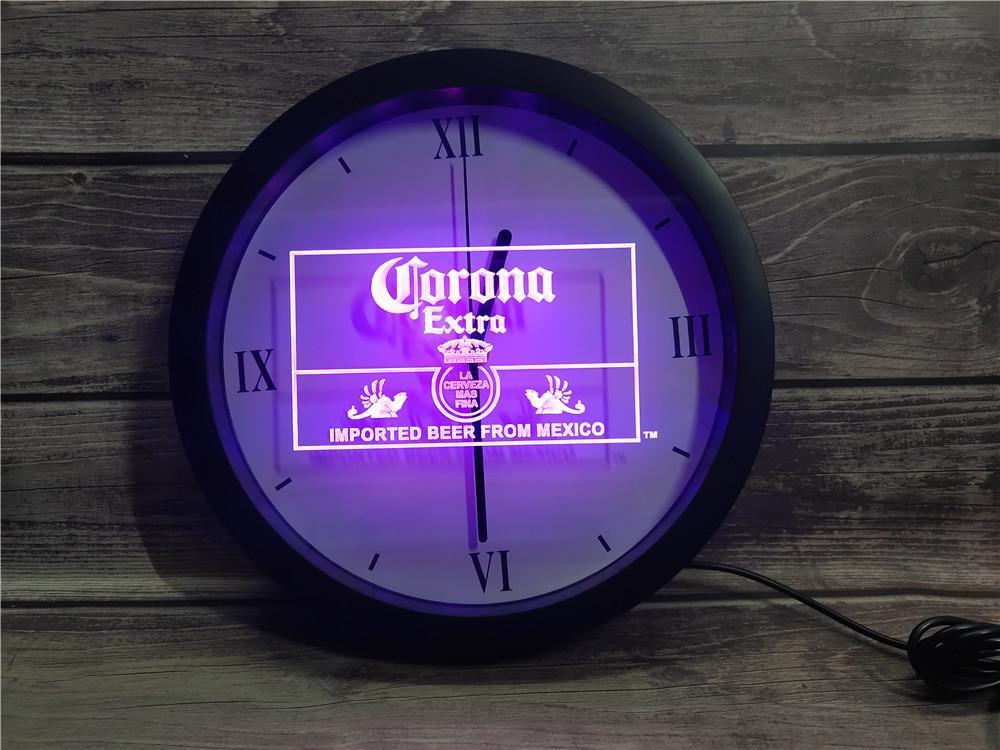 0E040 المكسيك البيرة بار حانة نادي APP RGB LED ضوء النيون علامات ساعة الحائط