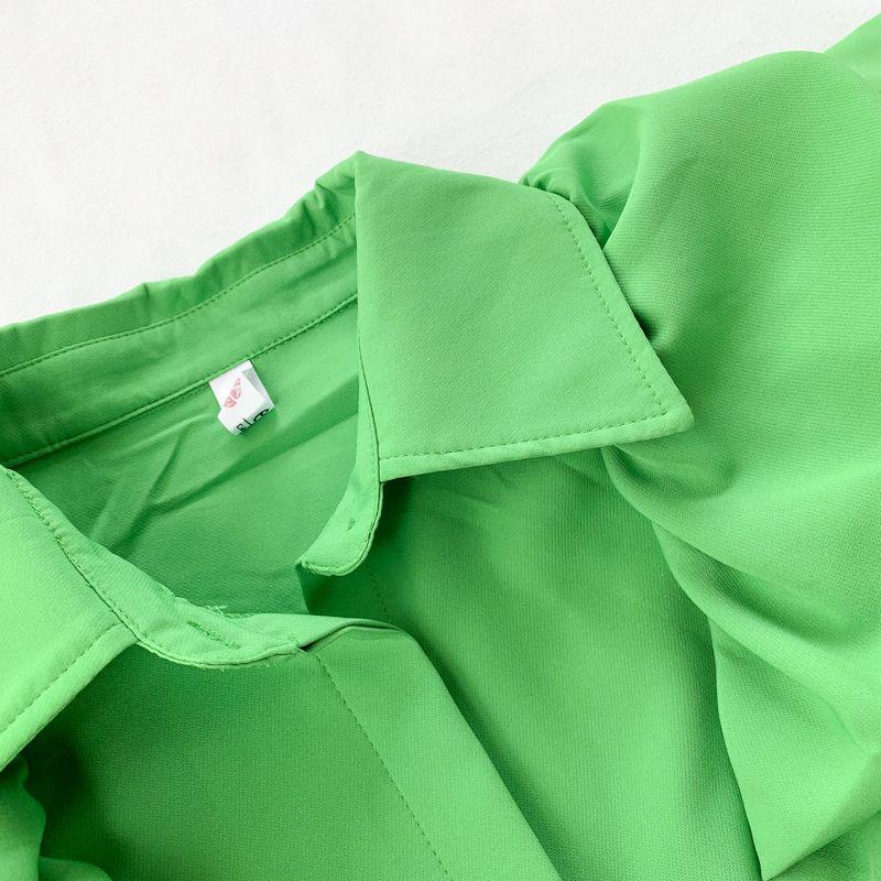 Été court Tempérament Puff T-shirts manches Top Tops élégant Lady Bureau