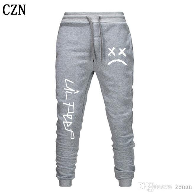 Envío gratuito Lil pío Pantalones Hip Hop Loose pantalón Hombres / Mujeres gimnasios pantalones pantalones casuales pantalones del basculador del basculador EL-2