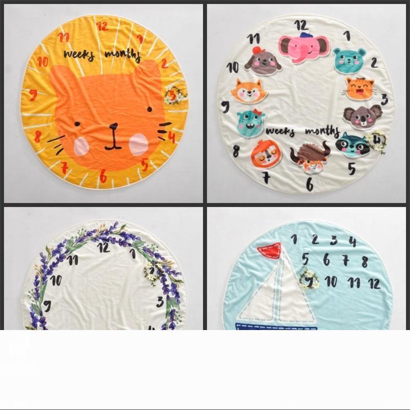 Garçons Filles Souvenir Couvertures Enfants Bébé Couverture memorialize Cercle Animaux Voile Tapis Parents Cadeaux Famille Ornement 33 5zc3 gg