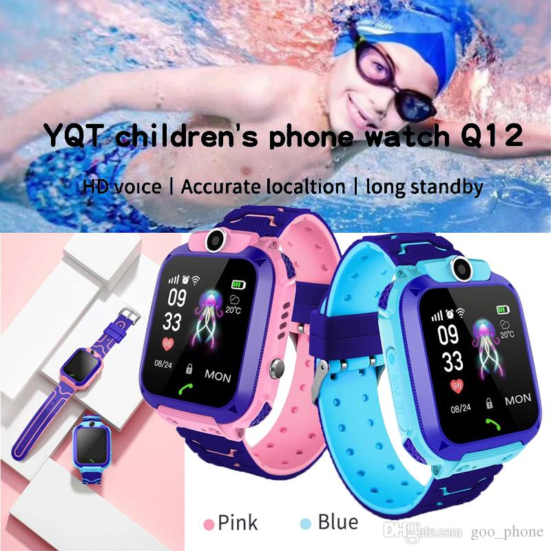 New Waterproof Q12 Smart Watch Multifunction GPS Children Digital Wristwatch Superior Baby Watch Phone For IOS Android Kids Toy Gift