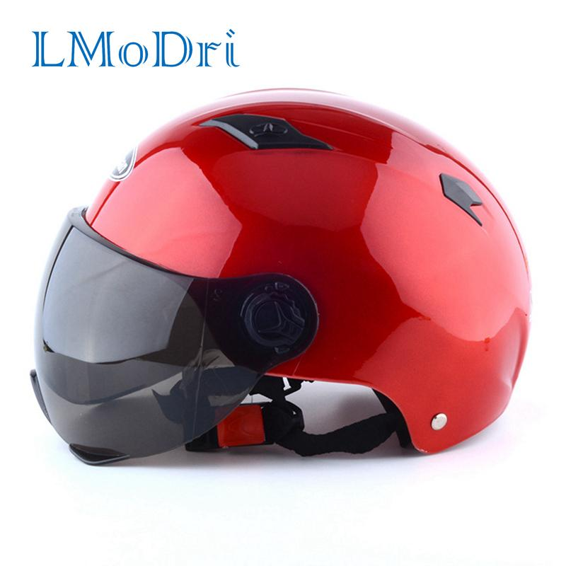 LMoDri Motorcycle Open Face Half Helmet Electric Bicycle Riding Helmet Unisex Breathable Sunscreen Summer Helmets