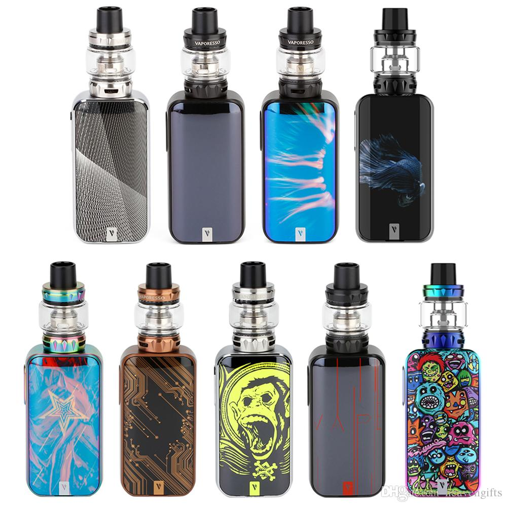 Vaporesso Luxe S 220W Touch Screen TC Kit with 8ml SKRR-S Atomizer 510 thread Box mod QF Strips Coil e cigs top refill kit vape