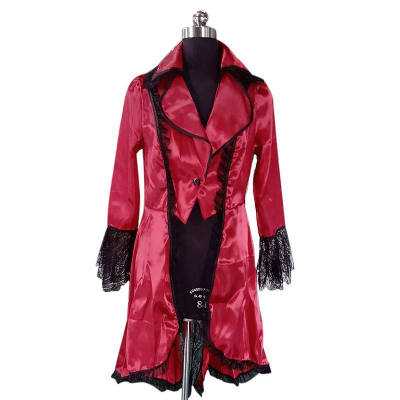 Ortaçağ Ceket Cosplay Palto Vintage Dantel Artı boyutu Kostüm Kadın Sonbahar Rahat Steampunk Gotik Tops