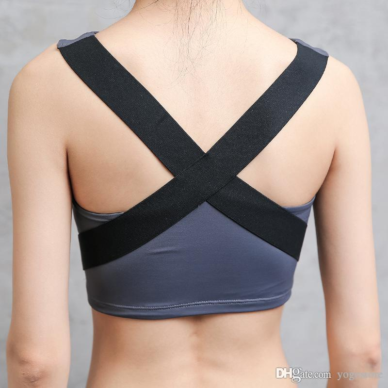 EW Womens Sport Bra yoga di forma fisica Esecuzione maglia della biancheria intima Crop imbottito Tops Biancheria intima 3 colori No filo-rim Bras Femminile