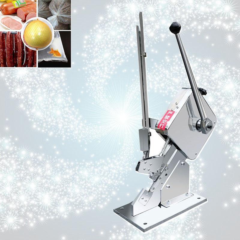 La inducción automática hebilla de la salchicha de la máquina de fruta selladoras de bolsas de comida sello de créditos neta de embalaje sellado de la máquina Salchicha Clipper Máquina
