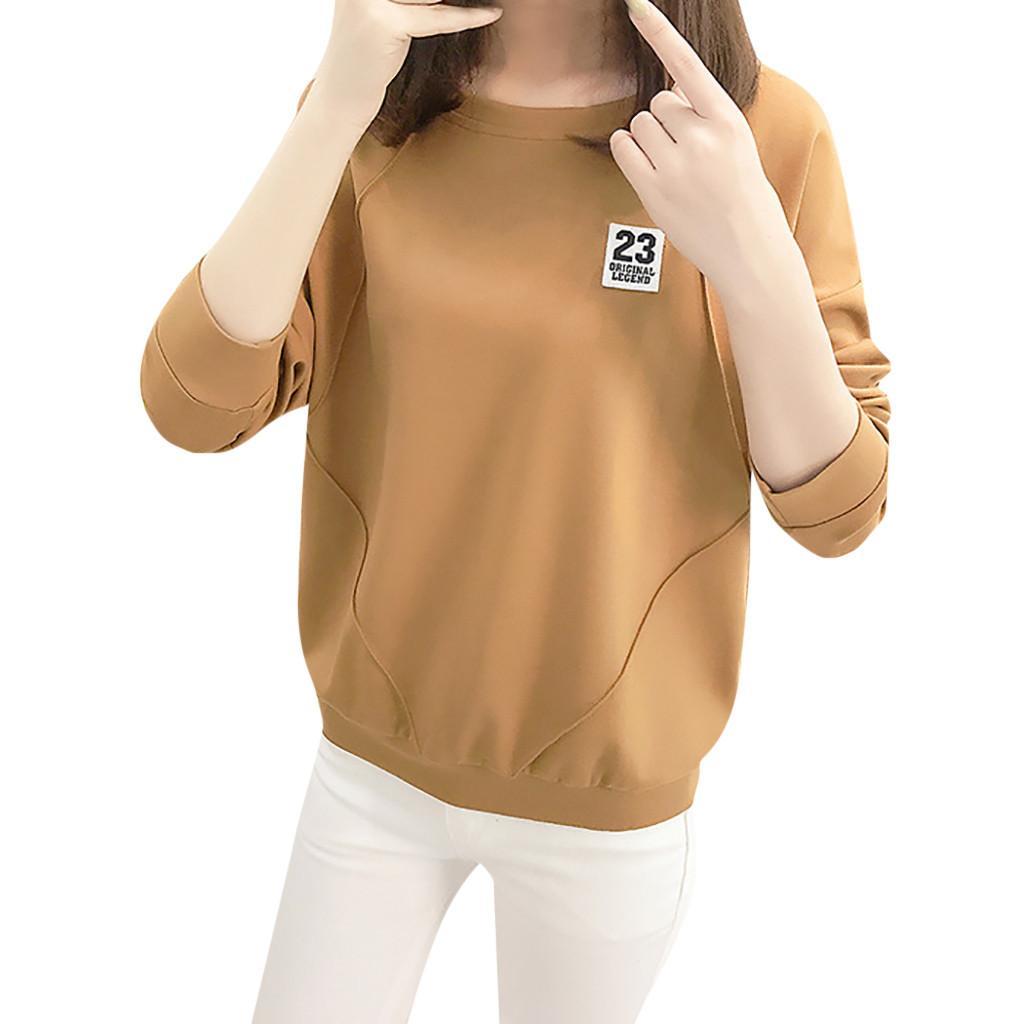 Femininas maniche lunghe che basa Top asimmetrica Felpa Pullover Felpa 2019 casual O roupas collare di personalità delle donne