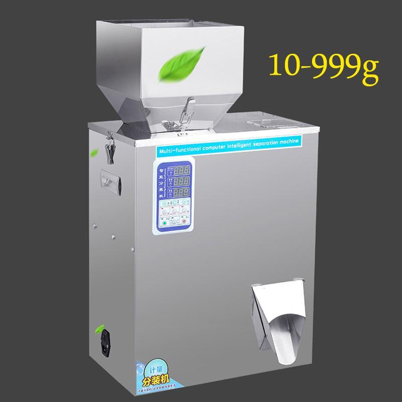 10-999g machine d'emballage automatique pour le thé Pesée fleur graines de céréales en poudre granulés de grains de grains de café vis machine de remplissage